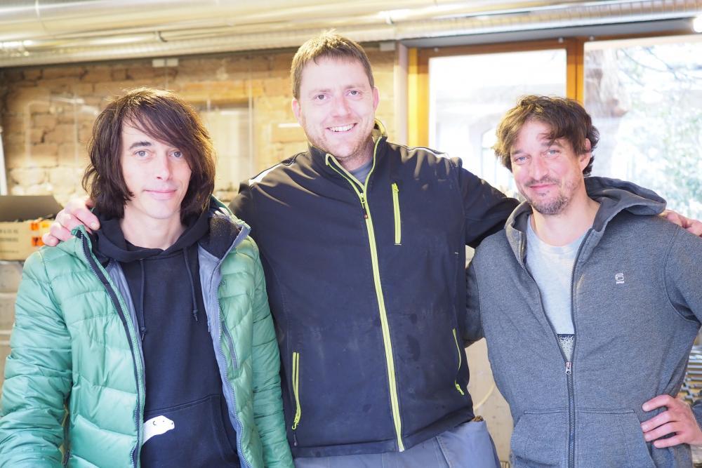 Das Trio Tobias Buser, Mario Chanton und David Buser