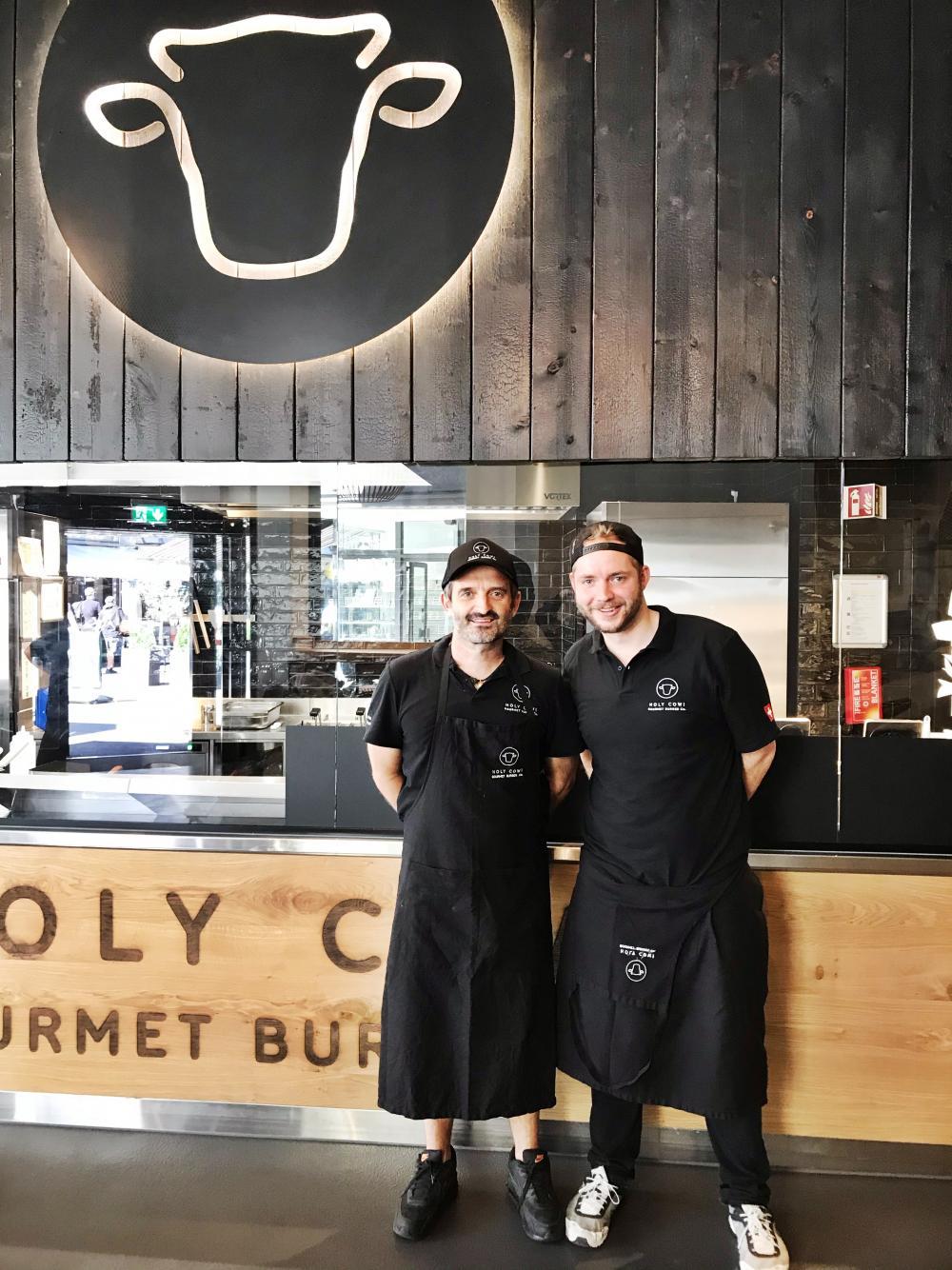 Holy Cow-Gründer, Richard Williams (links), und Leiter Geschäftsentwicklung, Sven Gerster. Nicht im Bild: der Basler Mitinhaber, Andres Krattinger.