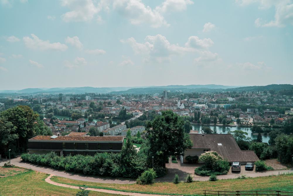 Die Aussicht vom Alpenzeiger über Aarau ist einmalig
