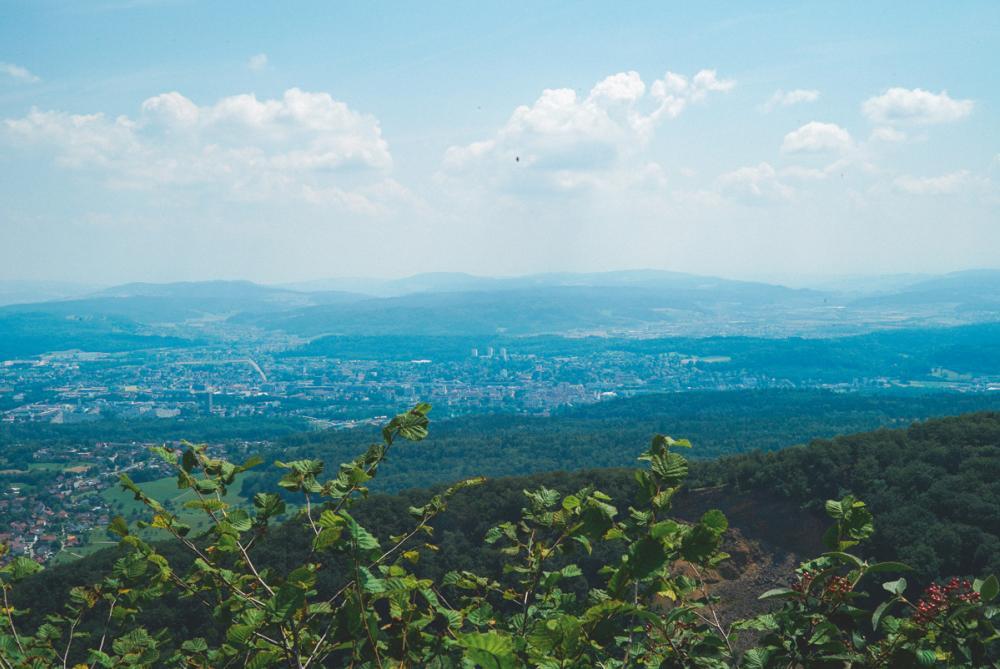 Sicht auf Aarau von der einen Seite