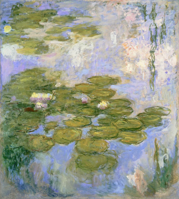 Claude Monet, Nymphéas, 1916 – 1919, Öl auf Leinwand, 200 × 180 cm