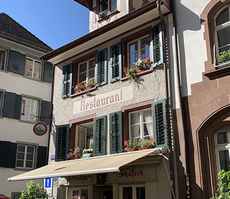 Das Restaurant Schafeck am Schafgässlein
