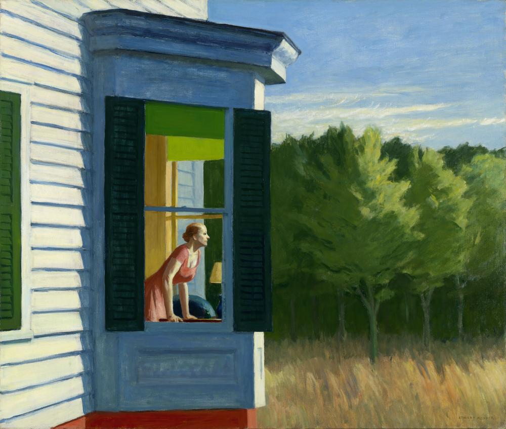 Edward Hopper, Cape Cod Morning, 1950, Oil on canvas, 86,7 × 102,3 cm, Smithsonian American Art Museum, Gift of the Sara Roby Foundation