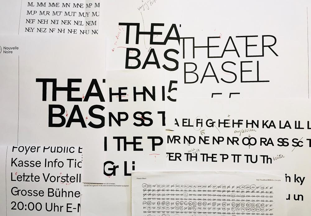 Entwürfe «Theater Basel Grotesk», Nouvelle Noire, 2020