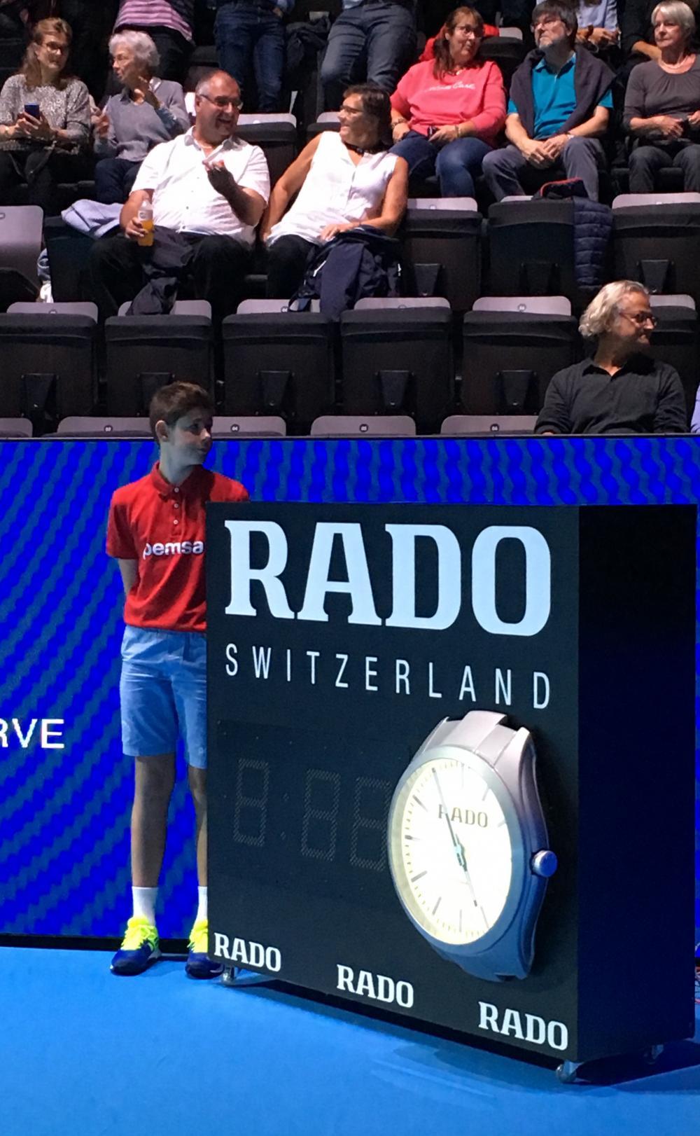 Official Timekeeper der Swiss Indoors Basel: Rado und Tennis gehören zusammen – das edle Uhren-Unternehmen unterstützt weltweit 12 Tennisturniere.