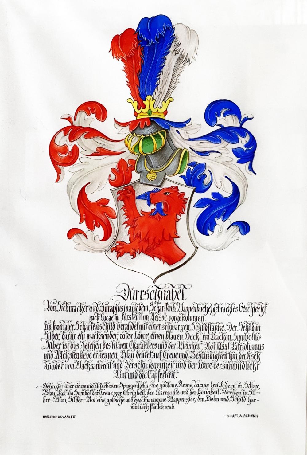 Als Tüpfelchen auf dem «i» kann ein eigener Wappenbrief erstellt werden lassen.