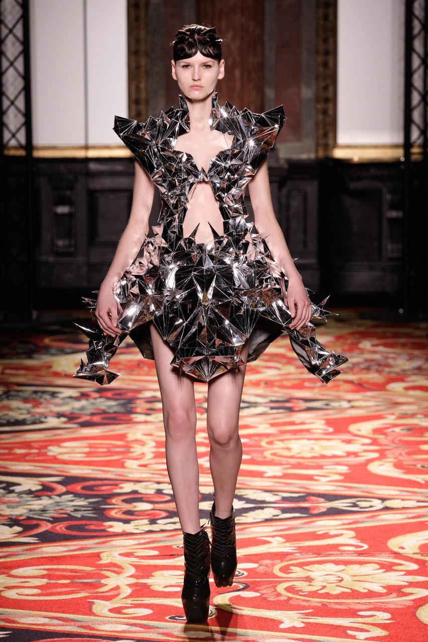 Iris van Herpen, Mirror Dress (Voltage Collection), 2013