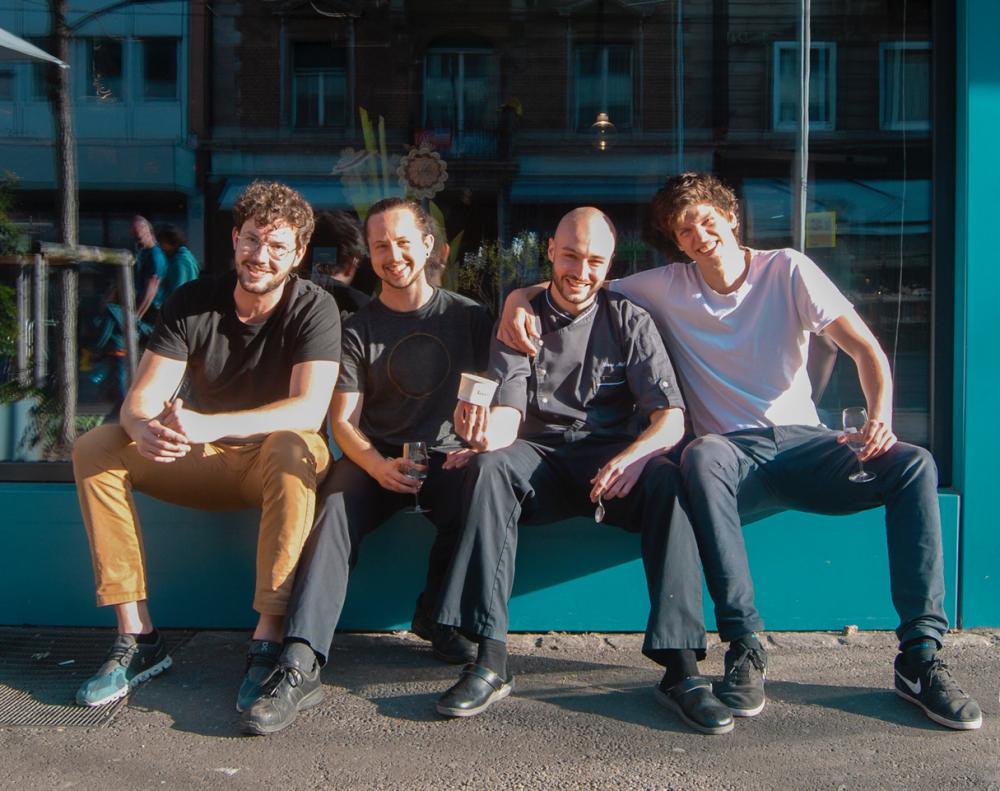 Von links nach rechts: Oliver, Philippe, Lucas und Till