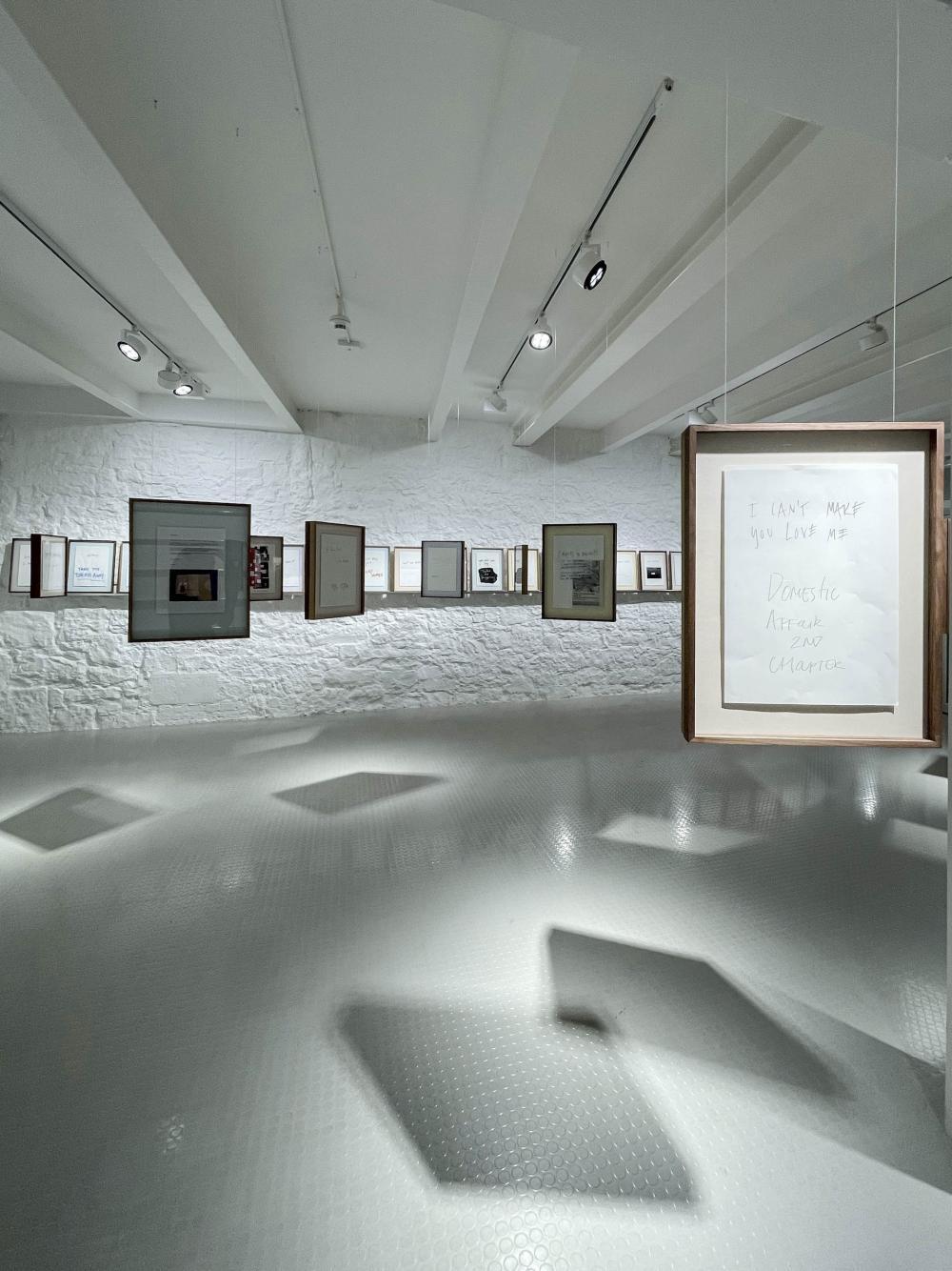 Ausstellungsansicht, MUSIC – A Conversation Through Song Titles, Kulturstiftung Basel H. Geiger, 2021.