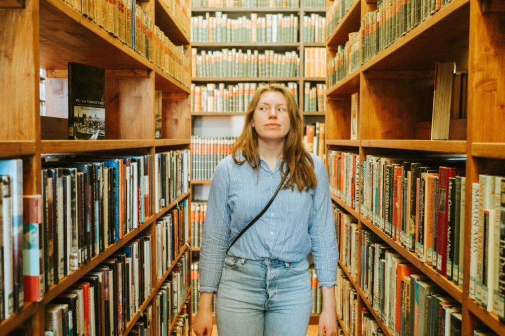 In der Allgemeinen Lesegesellschaft am Münsterplatz fand die norwegische Filmemacherin Marianne Lauritsen die nötige Ruhe, um an ihren Projekten zu arbeiten.