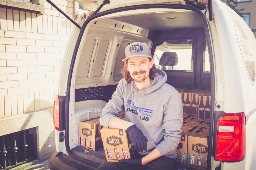 Daniel Gosteli der Birtel Biermanufaktur stillt den Durst der Region.