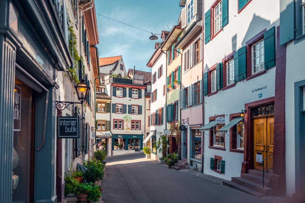 Der Spalenberg mit seinen verwinkelten Altstadtgassen.