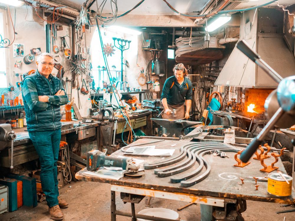 An zwanzig bis fünfzig Projekten gleichzeitig arbeitet Christoph Weiland (links) mit seinem Team um Roman Heese (hinten).
