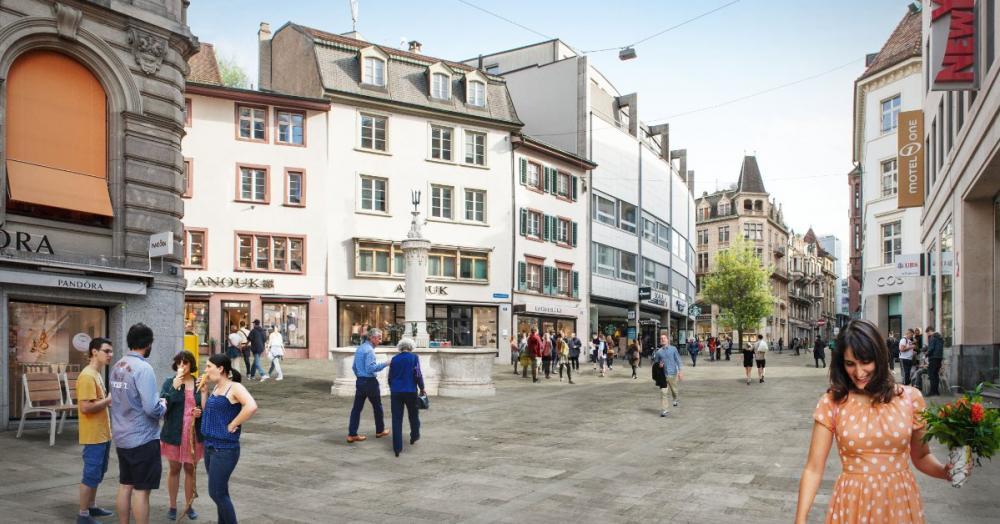 Seit August dieses Jahres wird die Freie Strasse komplett erneuert und bis 2023 Stück für Stück zur zeitgemässen Flaniermeile umgestaltet.