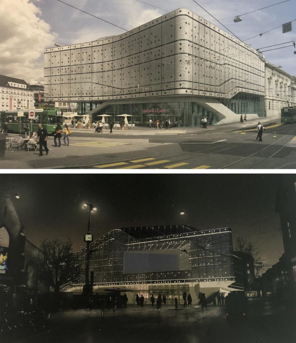 So sähe das Stadtcasino heute aus, wenn das Stimmvolk das Projekt von Zaha Hadid nicht abgelehnt hätte.