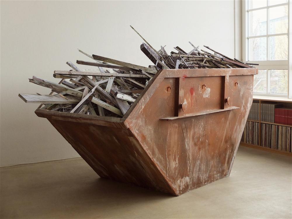 Franz Burkhardt, 2 Kubik 204, 2020-2021, Mixed media, plywood, styrodur, styrofoam, paint, 120x200x210 cm.