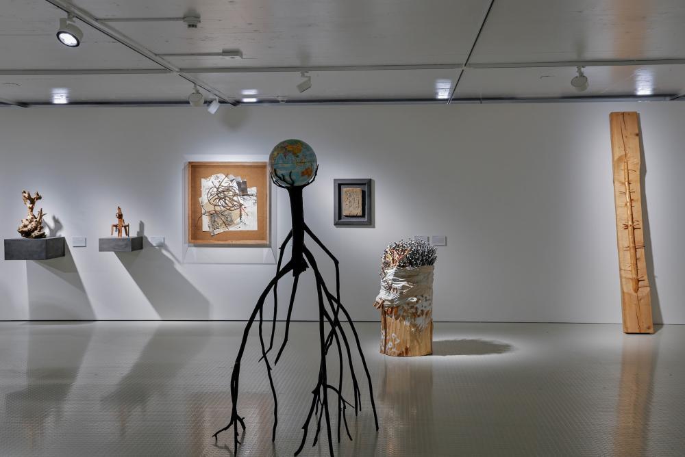 Exhibition view, Tree Connections, 2021. Krištof Kintera's Nervous Tree, 2013.